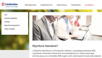 """Case Lindström Oy """"Myyntikoulu"""""""