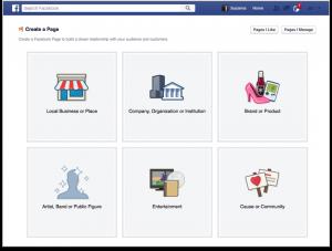 Facebook-CreateAPage