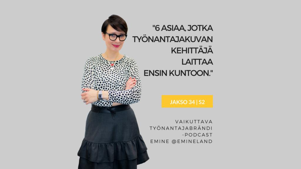työnantajakuvan kehittäminen Eminen podcast Susanna Rantanen