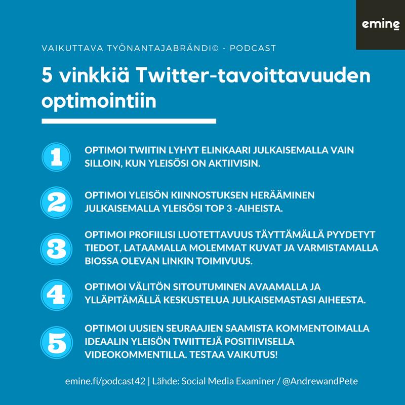 Twitter algoritmi 6 vinkkiä Twitterin käyttöön 2018 Eminen podcast