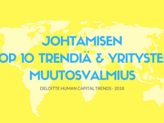 Mikä yrityspäättäjiä puhuttaa vuonna 2018? Human Capital Trends infograafina