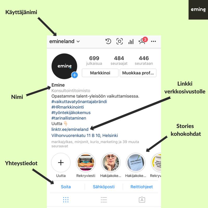 Instagram bio - mitä se sisältää?