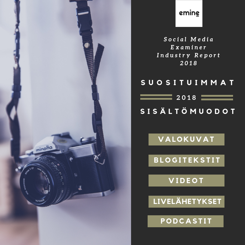 Eminen podcast sosiaalinen media suosituimmat sisältömuodot 2018
