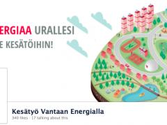 """Case Vantaan Energia """"Lataa Energiaa urallesi -kesätyörekrykampanja"""""""