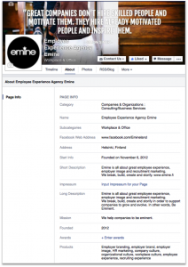 Facebook-companypage-business-info