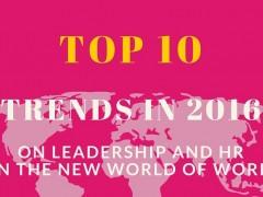 Johtamisen kuumimmat puheenaiheet vuonna 2016