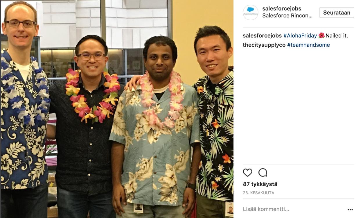 Työnantajat Instagramissa