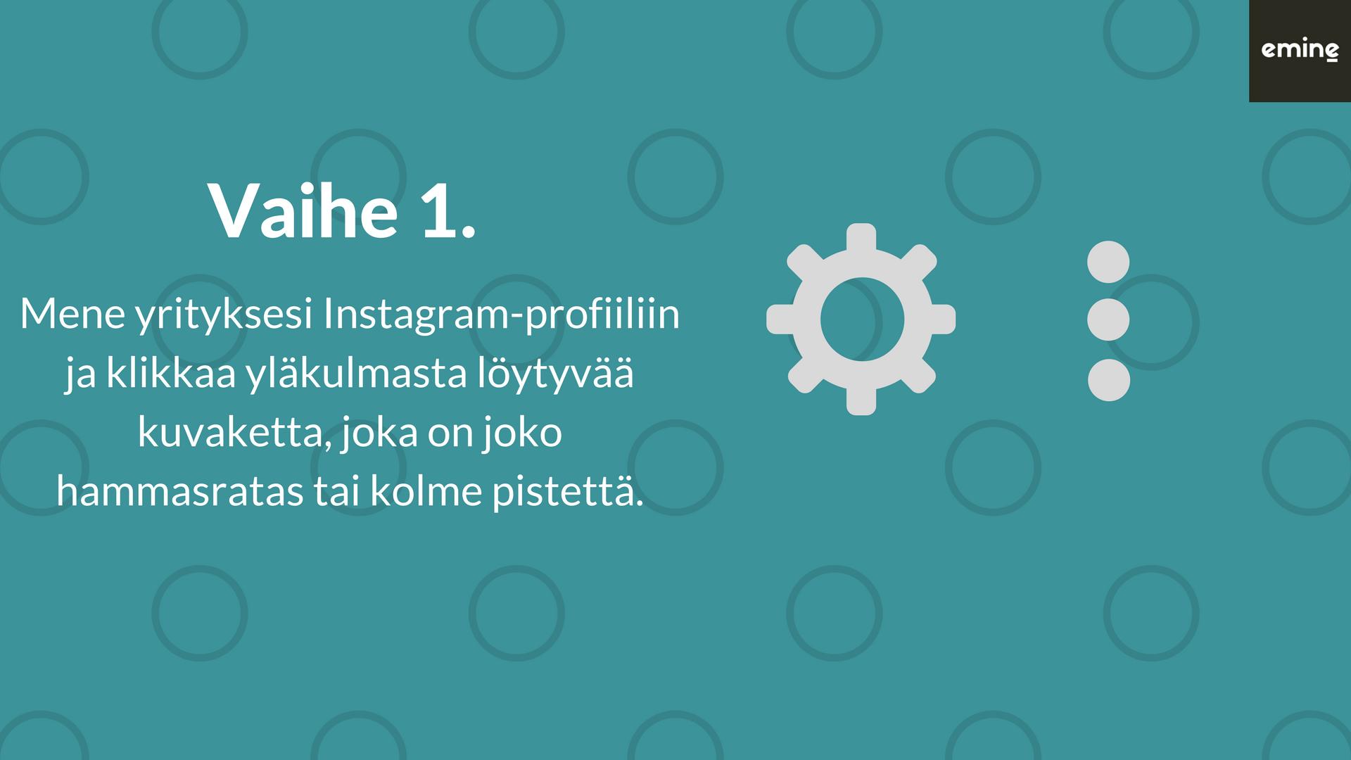 Miten Instagram-tilistä tehdään yritysprofiili?