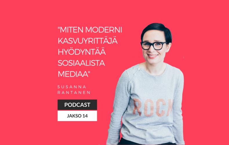 Miten moderni kasvuyrittäjä hyödyntää sosiaalista mediaa – Podcast jakso 14