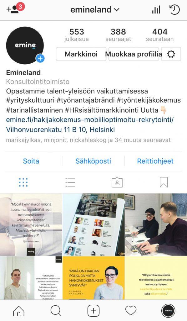 Instagram-profiili