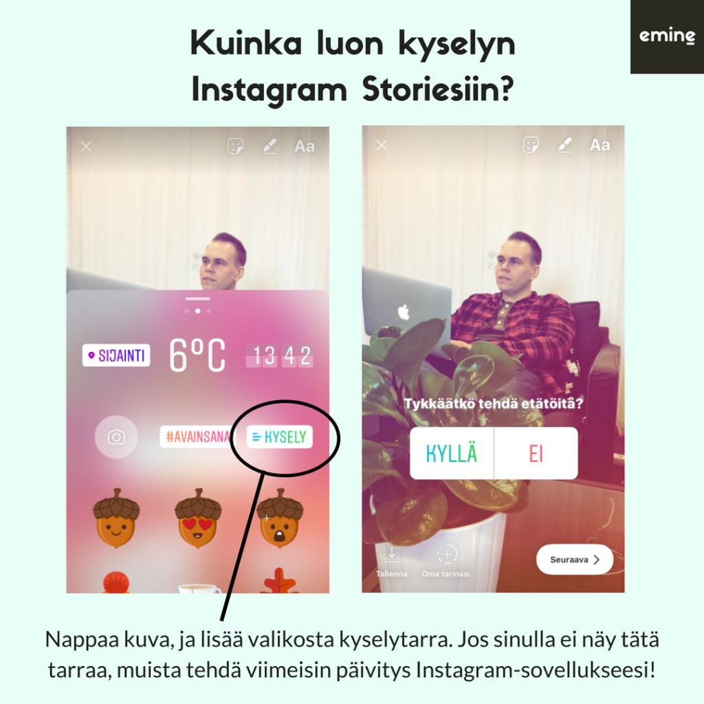Instagram Stories - Kuinka luon kyselyn?