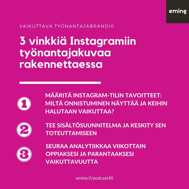 Instagram työnantajakuvan markkinoinnin alustana - Siirin ja Eminen vinkit