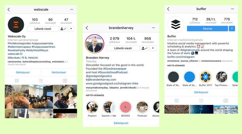 Instagram Yritysprofiili