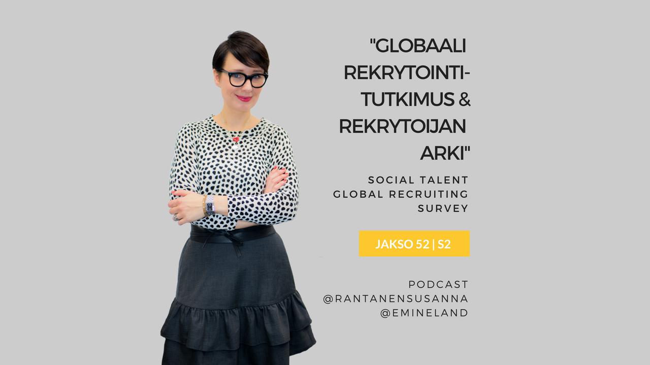 Globaali rekrytointitutkimus ja rekrytoijan arki – Podcast jakso 52