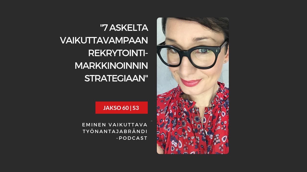Rekrytointimarkkinoinnin strategia – Podcast jakso 60