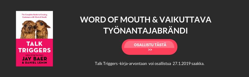 Word of mouth -jakso 71 Talk Triggers kirja-arvonta