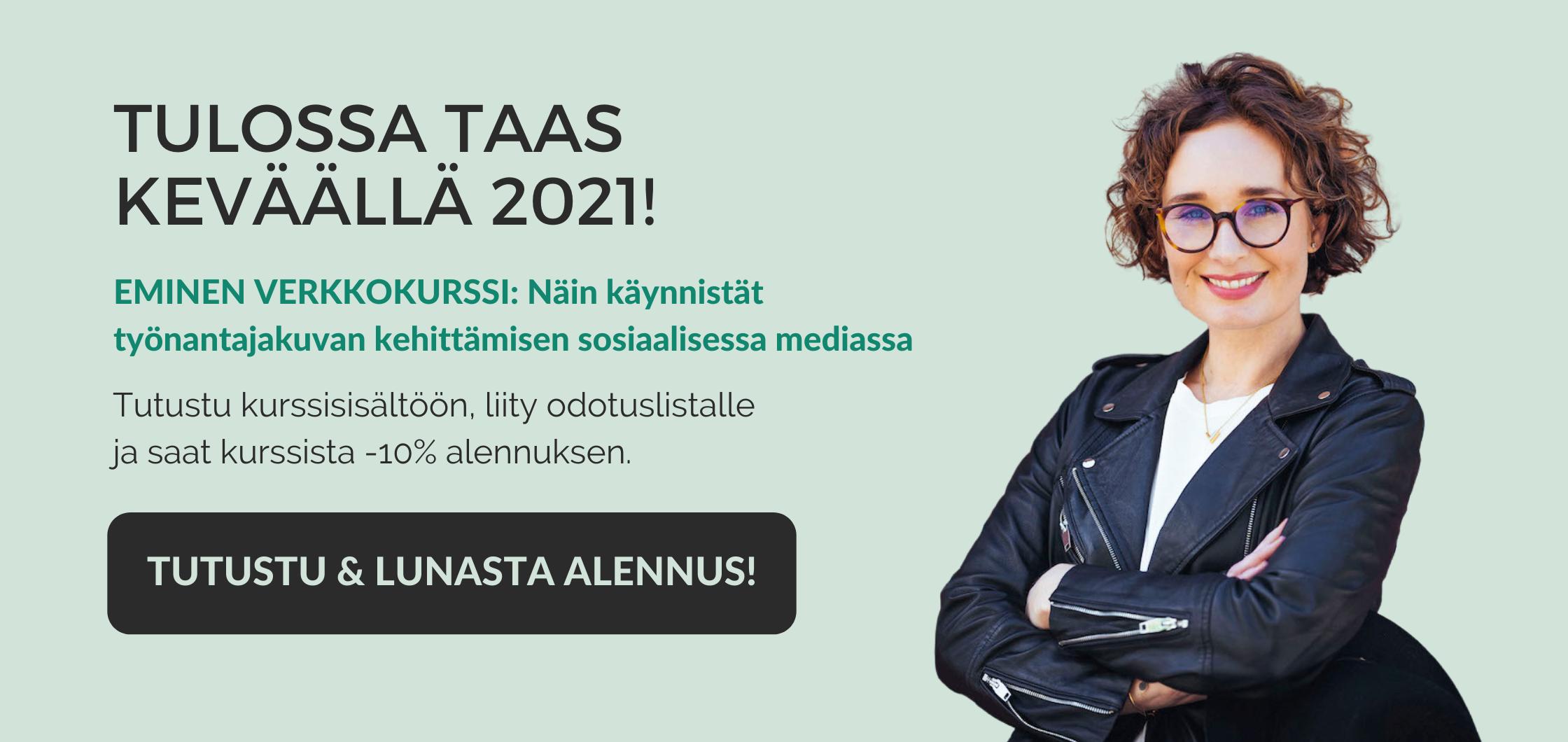 Työnantajakuvan kehittäminen somessa -verkkokurssi tulossa keväällä 2021