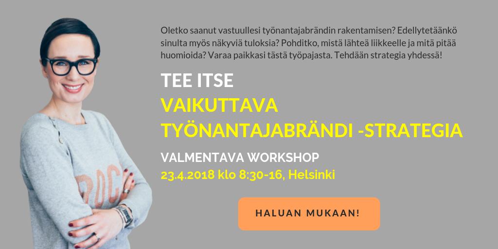 Vaikuttava Työnantajabrändi -strategia työpaja banner 2019