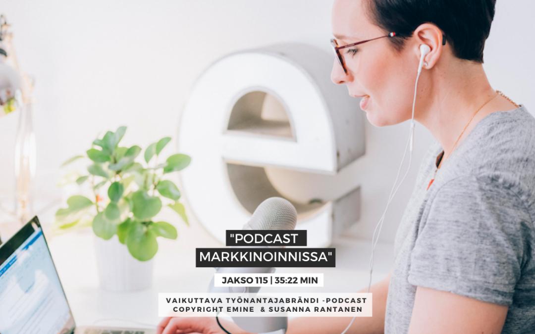 #115 – Podcast markkinoinnissa ja brändin rakentamisessa