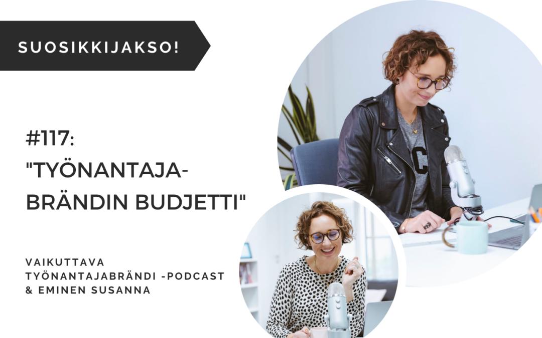 Eminen Vaikuttava työnantajabrändi -podcast Budjetti työnantajabrändityöhön ja työnantajakuvan kehittämiseen
