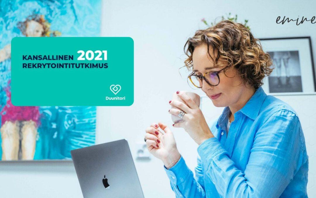 Yhteenveto tuloksista – Duunitorin Kansallinen Rekrytointitutkimus 2021